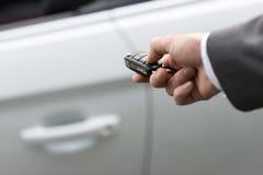 Chave do carro com de controle remoto fotos de stock royalty free
