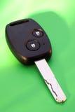 Chave do carro no verde Imagem de Stock Royalty Free