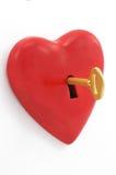 Chave do coração Imagem de Stock