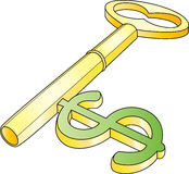 Chave do dólar Foto de Stock