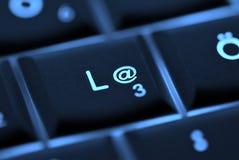 Chave do email do teclado Imagens de Stock
