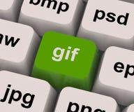 A chave do GIF mostra o formato da imagem para imagens do Internet Imagens de Stock Royalty Free