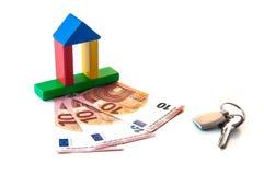 Chave do investimento do dinheiro da casa Imagem de Stock