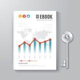 Chave do molde do projeto de Digitas do livro da tampa do conceito do negócio Fotos de Stock