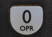 Chave do operador de O do telefone de pilha velho Foto de Stock