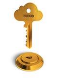 Chave do ouro da nuvem Fotografia de Stock
