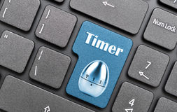 Chave do temporizador no teclado imagem de stock royalty free