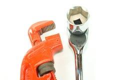 Chave dos canalizador Fotografia de Stock
