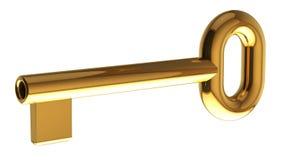 Chave dourada Foto de Stock Royalty Free
