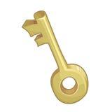 Chave dourada Imagem de Stock