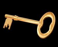 Chave dourada Fotografia de Stock Royalty Free