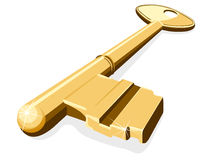 Chave dourada Fotos de Stock