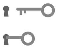 Chave e buraco da fechadura Destravagem chave ilustração stock