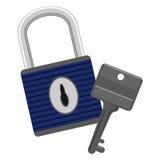 Chave e cadeado Imagens de Stock