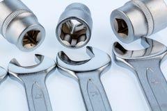 Chave e chave de soquete Foto de Stock