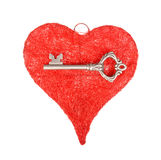 Chave e coração Fotografia de Stock Royalty Free