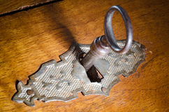 Chave e fechamento Foto de Stock Royalty Free