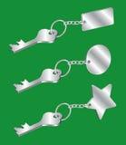 Chave e Keychain Imagem de Stock