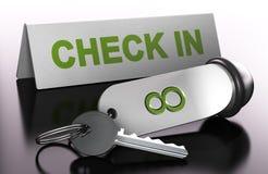 Registrando um Roon em um hotel, verifique dentro Fotografia de Stock Royalty Free