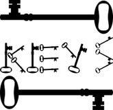 A chave fecha a silhueta segura segura do fechamento Foto de Stock