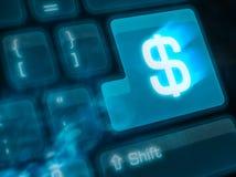 Chave importante - dinheiro Fotos de Stock