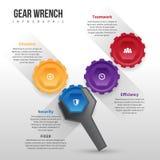Chave Infographic da engrenagem Imagem de Stock
