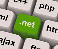 A chave líquida do ponto mostra o linguagem de programação ou o domínio Foto de Stock