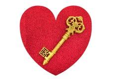 Chave a meu coração Imagens de Stock Royalty Free