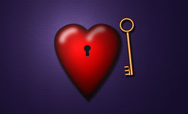 Chave a meu coração Imagem de Stock