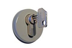 Chave no buraco da fechadura Imagem de Stock