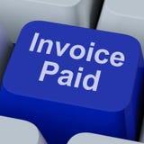 A chave paga fatura mostra Bill Payment Made Fotos de Stock Royalty Free