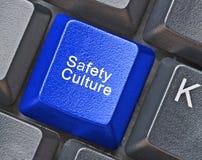 Chave para a cultura da segurança foto de stock royalty free