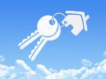 Chave para dirigir a forma da nuvem ilustração stock