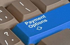 Chave para opções do pagamento imagem de stock royalty free