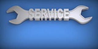chave Preste serviços de manutenção ao conceito Foto de Stock
