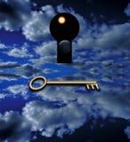 A chave que abre Fotografia de Stock