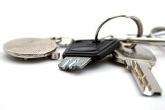 A chave quebrada em uma polia Fotos de Stock Royalty Free