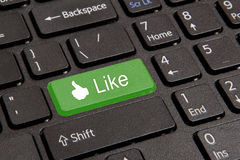 Chave quente para o facebook imagem de stock royalty free