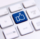 Chave social dos meios Fotografia de Stock Royalty Free