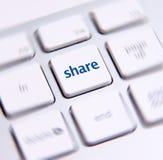 Chave social dos meios Foto de Stock