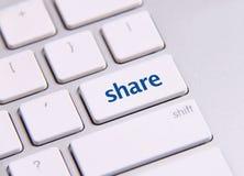 Chave social dos meios Imagens de Stock