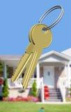 Chaves à casa ideal Foto de Stock Royalty Free