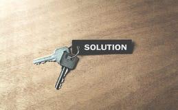 Chaves à solução e ao sucesso Fotografia de Stock
