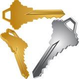 chaves 3D Foto de Stock