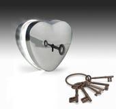 Chaves ao coração Fotografia de Stock Royalty Free