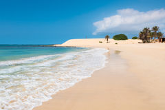 Chaves beach Praia de Chaves in Boavista Cape Verde - Cabo Verd Royalty Free Stock Images
