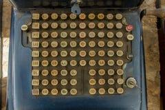Chaves da caixa registadora do posto de gasolina Imagem de Stock