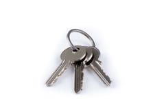 Chaves da casa no keyring Imagens de Stock