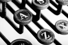 Chaves da máquina de escrever fotografia de stock royalty free