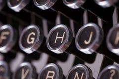 Chaves da máquina de escrever do vintage Imagens de Stock Royalty Free